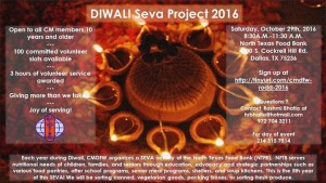 DIWALI SEVA PROJECT:  2016 @ North Texas Food Bank | Dallas | Texas | United States
