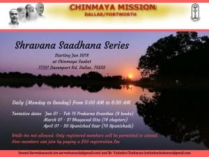 Shravana Saadhana Series: Prakarna Granthas @ Chinmaya Saaket | Winter Garden | Florida | United States